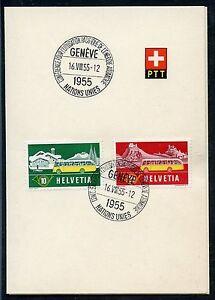 SWITZERLAND-SPECIAL-UNITED-NATIONS-16-VIII-55-SPECIAL-CANCEL-ON-PTT-PRES-FOLDER