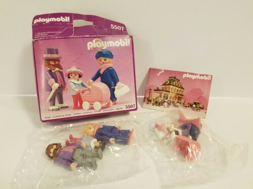 New Playmobil Vintage 5507 Victorian Mansion Dollhouse Family Strolling