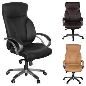 b rostuhl ergonomisch schreibtischstuhl kunstleder chefsessel drehstuhl 150 kg ebay. Black Bedroom Furniture Sets. Home Design Ideas