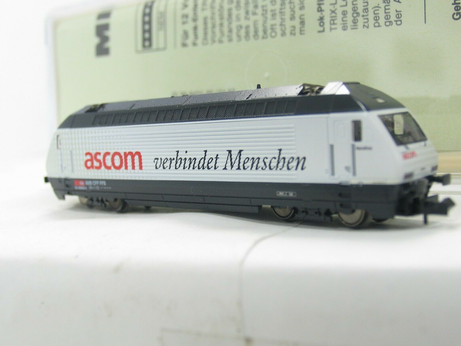 Minitrix 12678 e-Lok serie 460 de Ascom SBB nh15