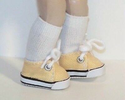 Debs DK YELLOW Sidebow Satin Side Bow Doll Shoes For 8 Vogue Vintage GINNY