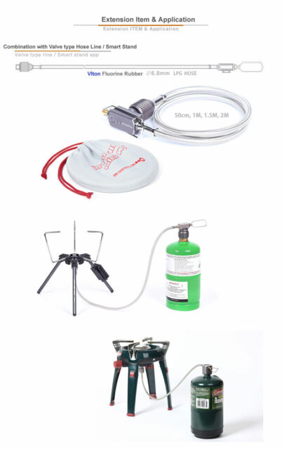 LPG Adapter//camping Propane Small Tank Input and a Lindal Valve En417 Output for sale online
