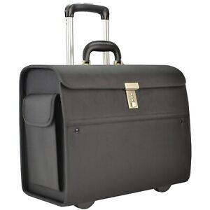 SONOVO-Pilotenkoffer-NEW-YORK-Businesscase-Aktentrolley-Nylon-schwarz-45033
