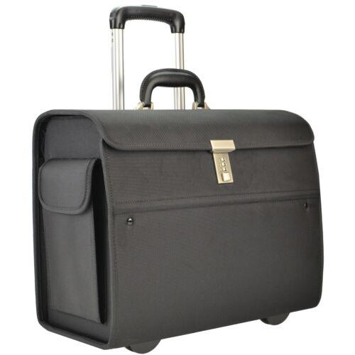 SONOVO Pilotenkoffer NEW YORK Businesscase Aktentrolley Nylon schwarz 45033