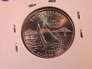 2001 P Rhode Island Quarter  *MINT CELLO*  **FREE SHIPPING**