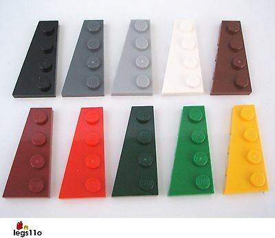 LEGO 51739 WEDGE PLATE 2x4 QTY x 10 DARK BLUISH GREY BRAND NEW