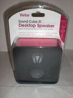 Vivitar Sound Cube Xi Desktop Speaker Red/black In Package Aluminum Speaker