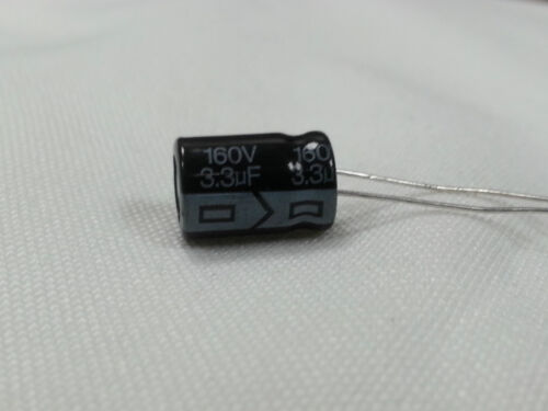 LOT of 10 (TEN)  CAPACITOR 3.3uF - 160V 105 DEGREES USA FREE SHIPPING