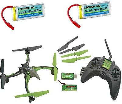 Dromida Ominus UAV Quadcopter RTF Green w 3x Lipo Battery Charger Extra Props