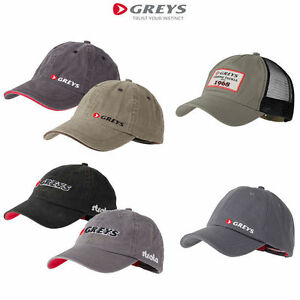 Greys Strata Baseball Caps 4 Types Fishing Trout Salmon Game Peaked