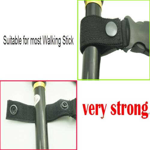 BEST Walking Stick Cane or Crutch Holder Wrist Strap Clip On Table Rest