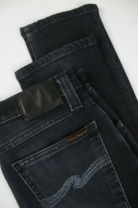 NUDIE-Jeans-TUBE-TOM-BLACK-CARBON-Women-039-s-W27-L30-Stretch-Organic-Jeans-1508-el