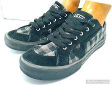 VANS Tory Checks Handle Low Cut Shoes Skate board Womens SIZE 7 Black & Lt Brown
