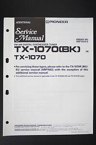 Sinnvoll Pioneer Tx-1070 Tx-1070 Original Additional Service-manual/schaltplan O105 Quell Sommer Durst bk