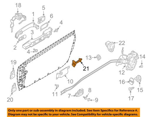 NISSAN OEM-Door Check Arm Stop Hinge Strap 80430CD000