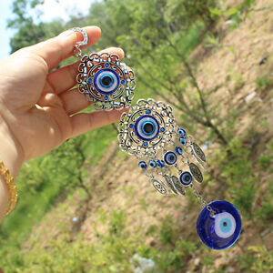 Home-Turkish-Evil-Eye-Amulet-Wall-Hanging-Lucky-Decor-Protection-Pendant-Blue
