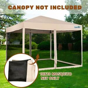 Details about Quictent Canopy Screen Walls Replacement Netting for 10x10  Canopy Tent Gazebo