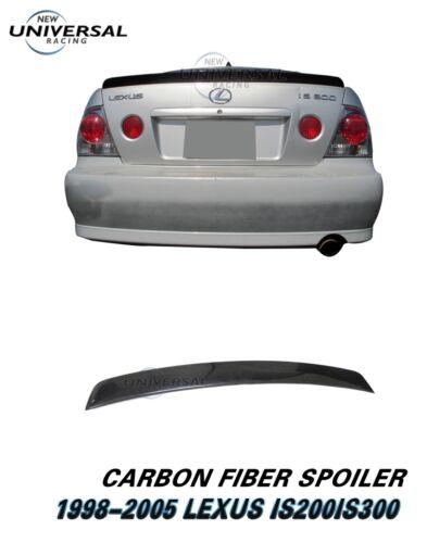 Carbon Fiber Trunk Spoiler Duck For 1998-2005 Lexus IS200 IS300 Altezza Sedan