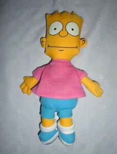 "The Simpsons Smiling Bart Simpson 1990 9"" Plush Soft Toy Stuffed Animal"
