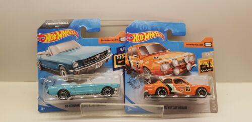 Hot Wheels 2er set Ford Mustang /& Ford Escort