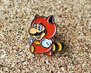 Tanooki-Suit-Raccoon-Mario-Metal-Enamel-Pin-Nintendo-Lapel-Collector-Promo