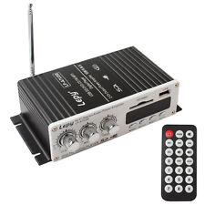 100W Mini Hi-Fi Stereo Verstärker Amplifier DVD MMC CD FM mp3 Motorrad Auto 12V