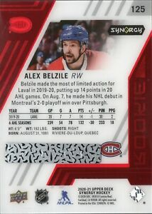 2020-21 Upper Deck Synergy Unscratched Bounty #125 Alex Belzile