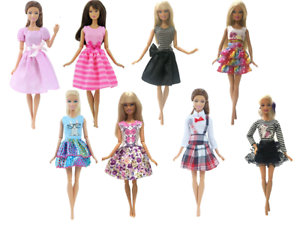 Barbie-Doll-Dress-Clothes-Gown-Dresses-Skirt-Fashion-Vintage-Casual-Outfit-11-in