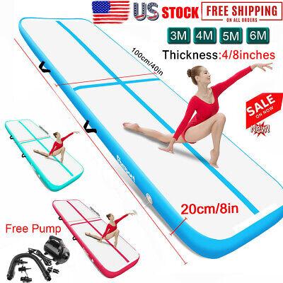 Air Track 10//13//16//20ft Inflatable Tumbling Mat Airtrack Gymnastics Yoga GYM