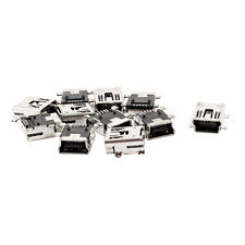 Replacement USB Type B Female 5 Pin PCB Board Mount Jack Charger Connector 10Pcs