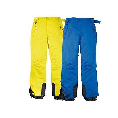 Herren Skihose gelb blau 48 50 52 54 Schneehose Sporthose Ski Hose Snowboard