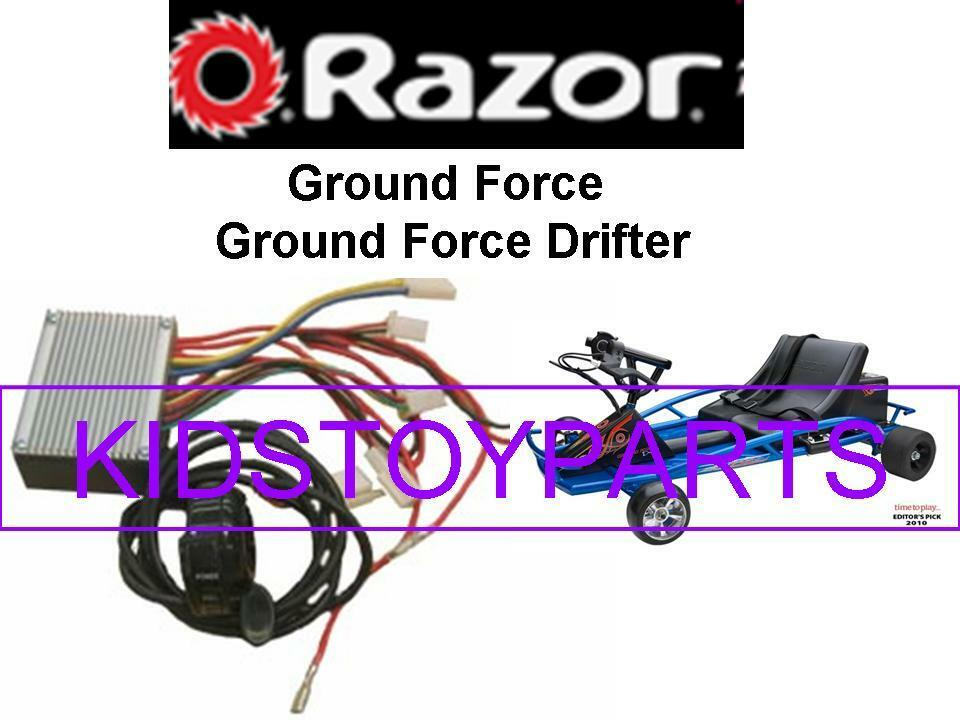 Razor Ground Force DRIFTER Go Cart Thredtle and Controller Kit 7 connector