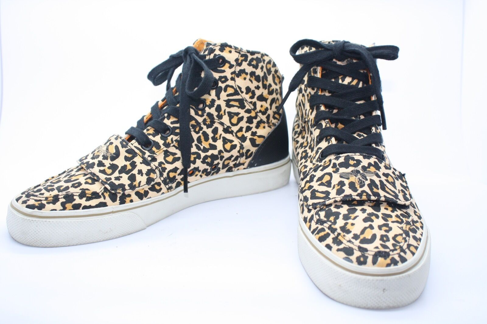 CREATIVE RECREATION Ivory Cesario XVI Cheetah Animal Print Hightop shoes Size 7