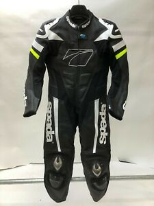 Spada-Curve-Evo-TT-1-Piece-Leather-Motorcycle-Race-Suit-Black-FLUO-LADIES-LADY