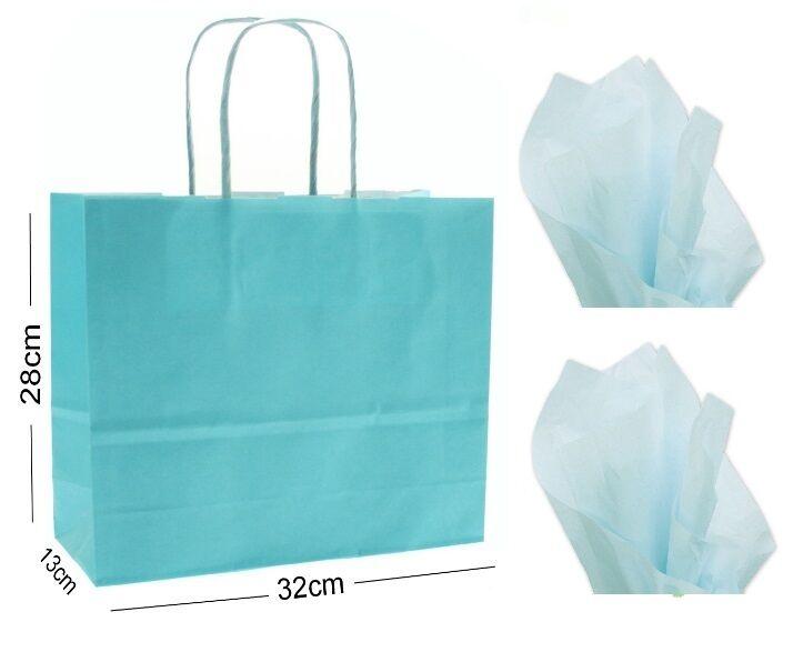 Bleu Clair Paysage Magasin Grand Papier Fête Sac Cadeau ~ Boutique Magasin Paysage Sac & Tissu 27bdc0