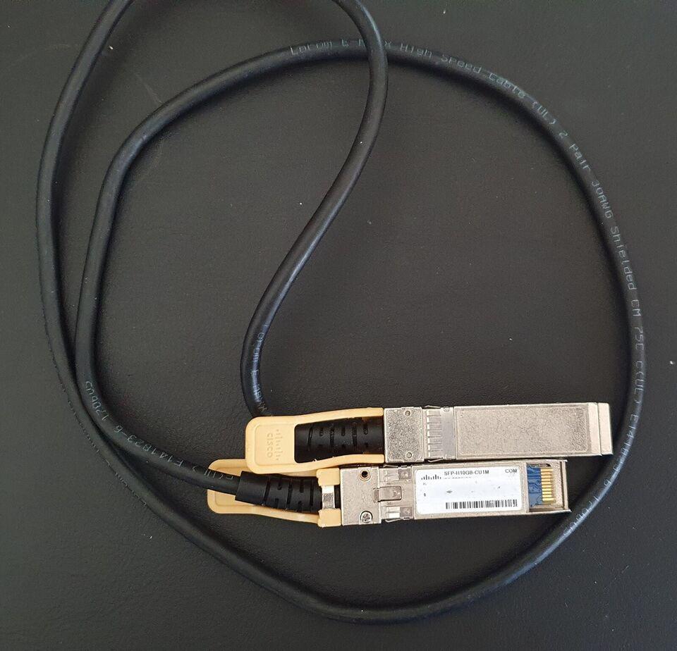Netværkskabler, Cisco SFP+ DAC. 1m model CU1M, Perfekt