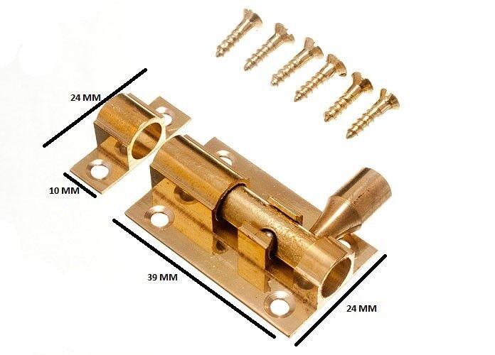 Bullone PORTA CANNA Slide Lock 38 mm 1 1 2 pollici in ottone con viti confezione da 50
