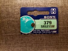 SR521SW Sony Silver Oxide Batteries Size 379 Pack of 5