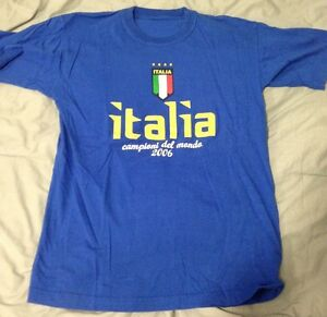 Details about TOP LINE BLUE ITALIA CAMPIONI DEL MONDO 2006 Soccer T Shirt **PRICE LOWERED**
