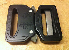 AustriAlpin 33mm Matt Black Cobra Buckle + Clips FC33MVF-B