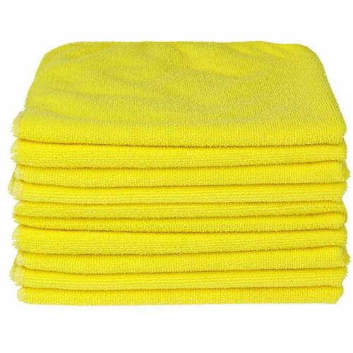 20x YELLOW CAR CLEANING DETAILING MICROFIBER SOFT POLISH CLOTHS TOWELS LINT FREE