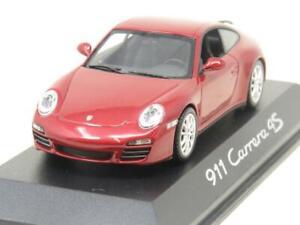 Minichamps-DieCast-Dealer-modello-Porsche-911-CARRERA-4S-Rosso-Rubino-1-43-scala-in-Scatola