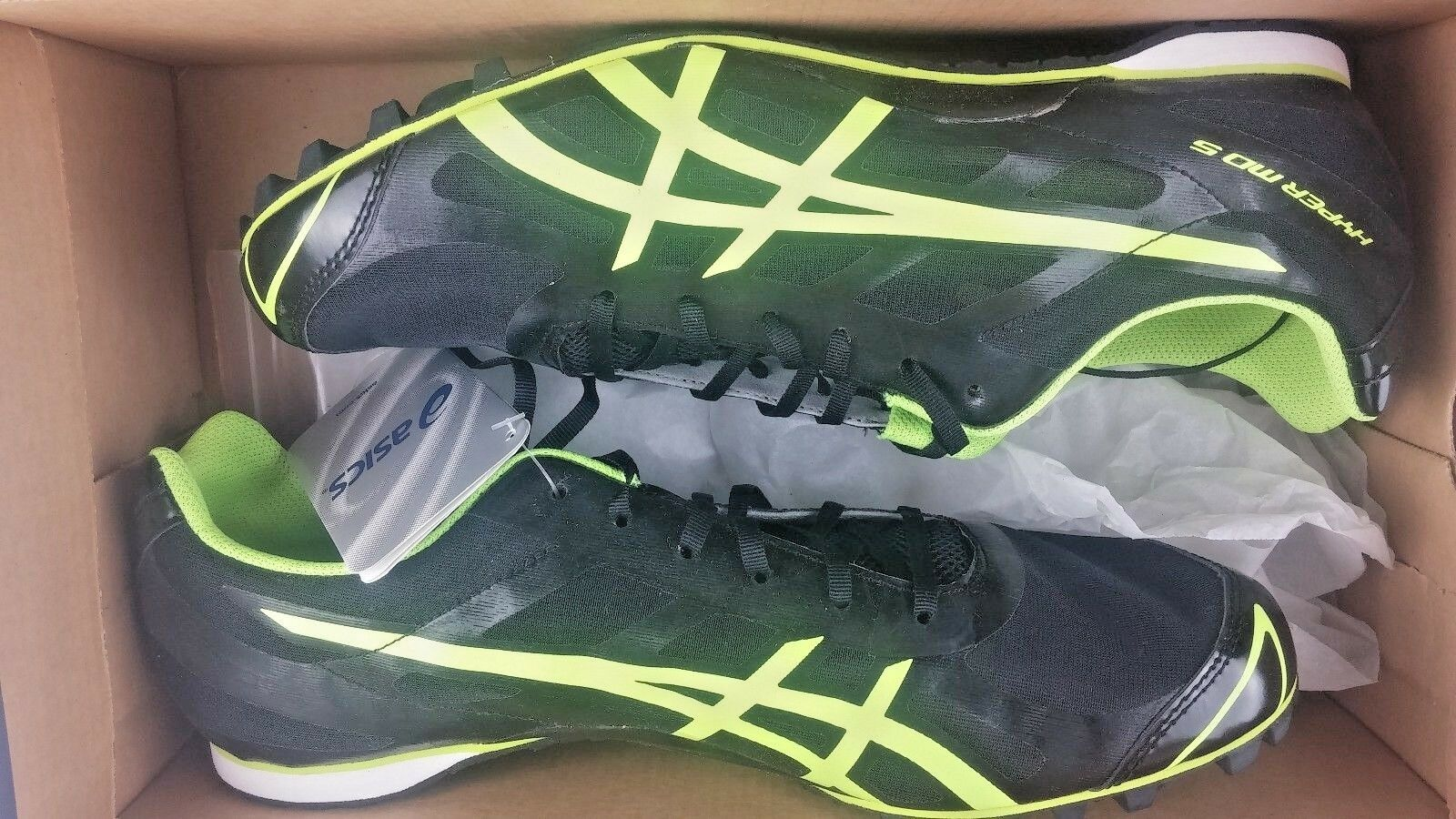 64b87a2a7 NEW Asics Mens 11 Hyper MD 5 G304N 9004 Track Track Track   Field Spikes  Shoe