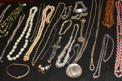 Lot Vintage Modern Necklaces Rope Chain ID Bracele