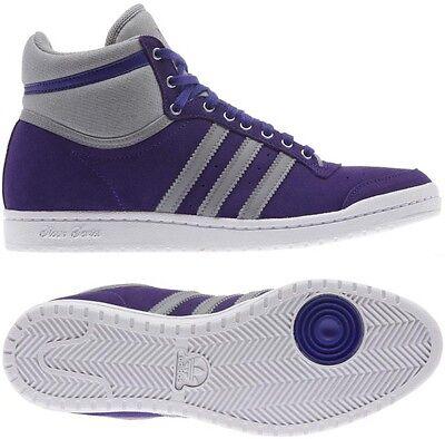 Adidas Top Ten Hi Sleek W Shoes Trainers Purple Grey Ladies Suede | eBay