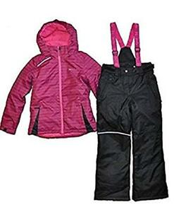 12a1a80e7 NWT XMTN Girls Winter Snow Jacket and Snow Pants Pink Black