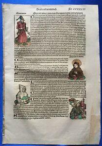 Altkoloriertes Blatt CCXXVIII, Schedel Weltchronik 1493, Nürnberg, OSMANEN