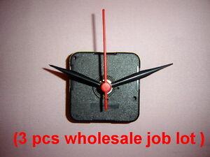 3 X Black Quartz Wall Clock Movement Mechanism Hands