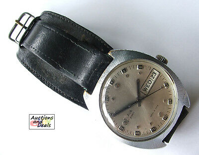 SLAVA 27 Jewels Automatic Vintage Men's Wrist Watch w/ Date