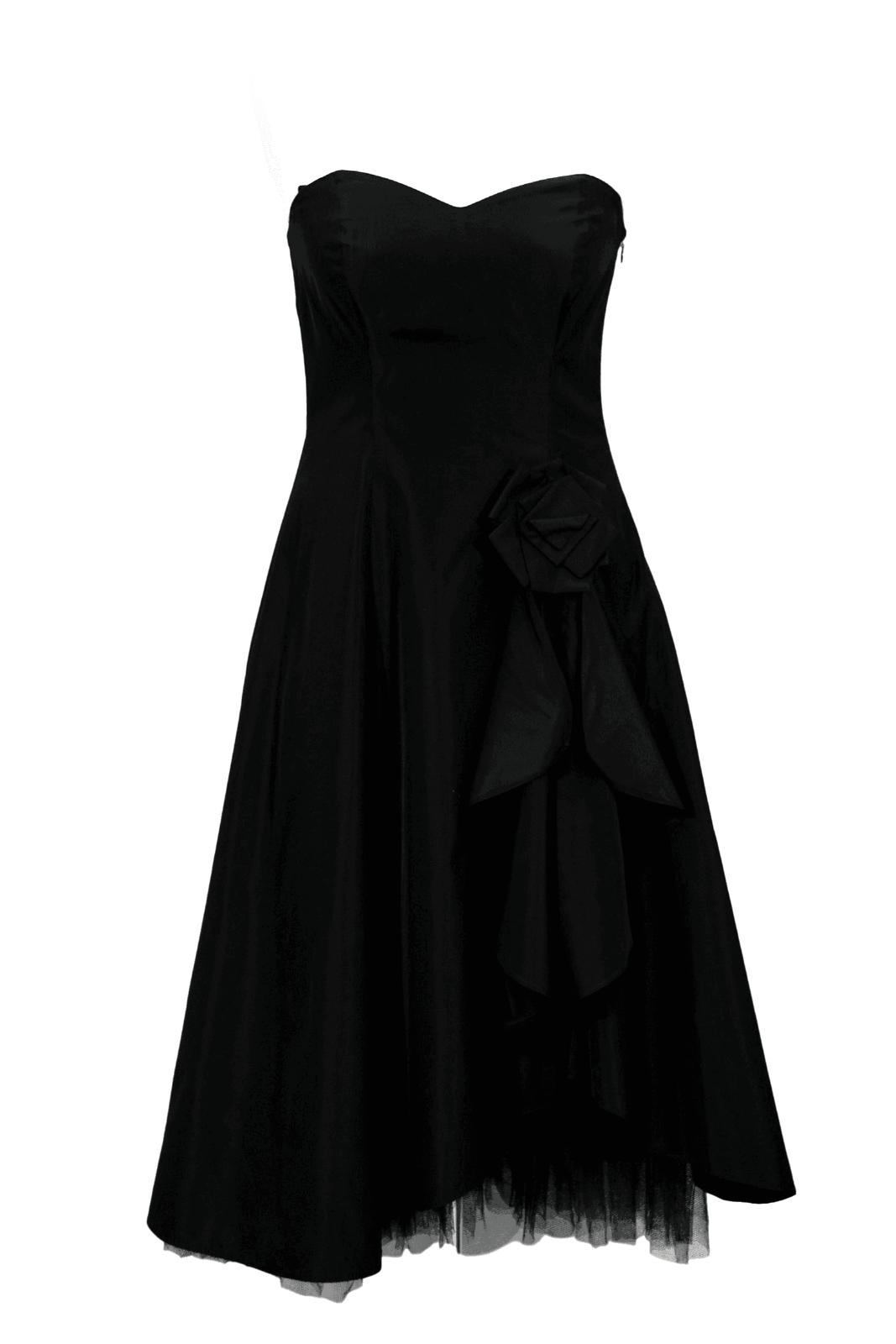 Debut Kleid Damen Gr. 36 (UK10) Schwarz Shiftkleid Shirtkleid Dress Midikleid